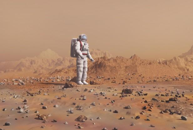 Poderia algum vírus extraterrestre, tais como aqueles que podem vir a ser encontrados em Marte, ter consequências terríveis para futuros astronautas se eles entrarem em contato? Crédito da imagem: NASA.