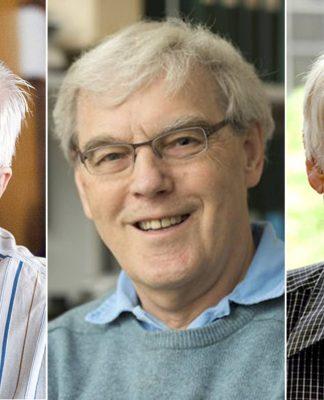 Jauqes Dubochet, Richard Henderson e Joachim Frank. (Créditos: El País)
