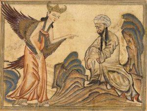 Maomé recebendo o Anjo Gabriel